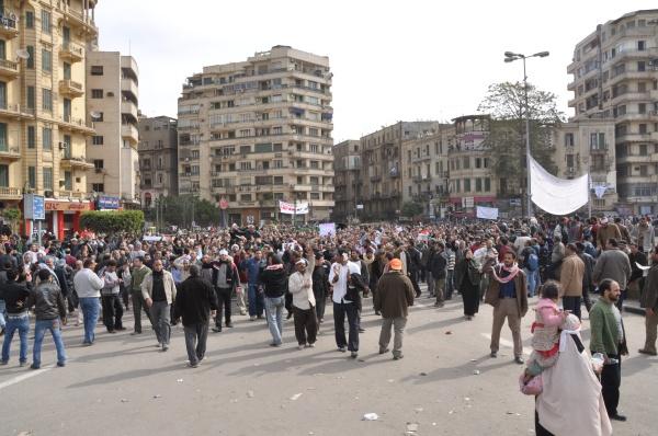 Piata Tahrir Cairo 3 feb 2011 Foto Cristian Botez